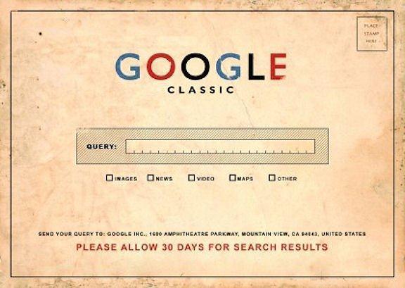 Google in de prehistorie