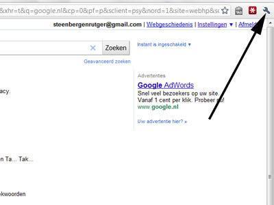 Sleutelwoorden Google Chrome