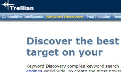 Trellian Keyword Discovery (trial / betaald)