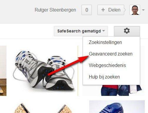 Grote afbeeldingen vinden met Google Images