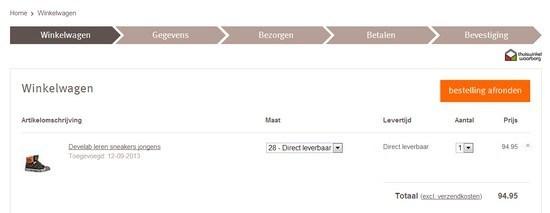 Website verbeteren, bestellen bij Wehkamp