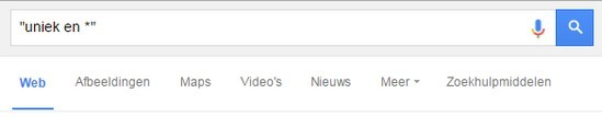 Uitdrukkingen vinden met Google