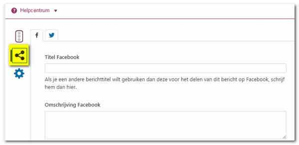 Yoast Facebook omschrijving
